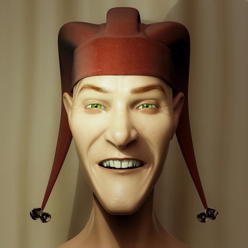 Maske med sjovt ansigtsudtryk