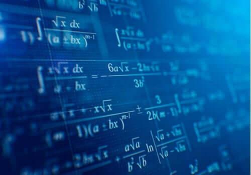Matematiske ligninger på skærm