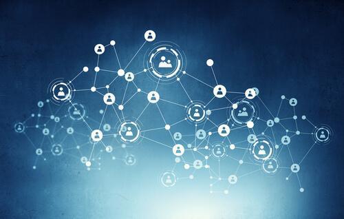 Netværk illustrerer informationssamfund