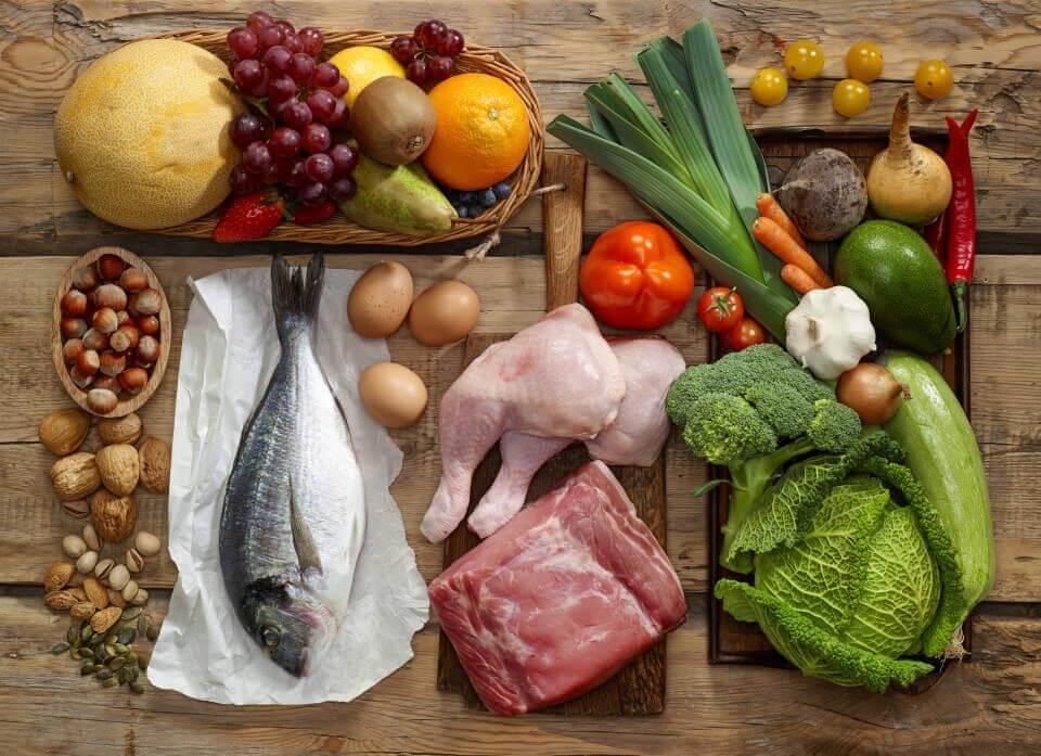 Kød, fisk og grøntsager