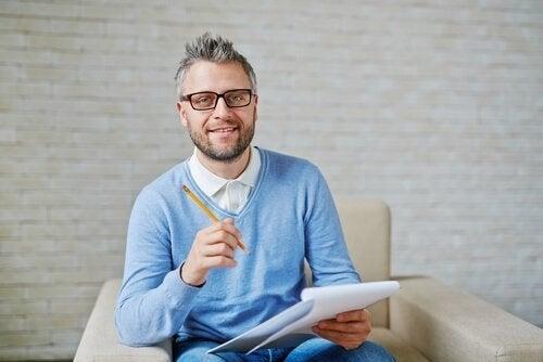 En uddannelsespsykolog tager noter