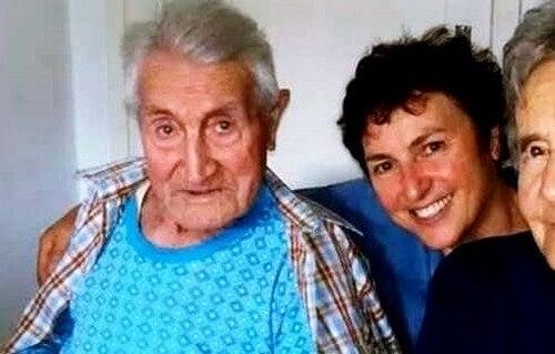 Alberto Belluci på 101 år overlevede coronavirus