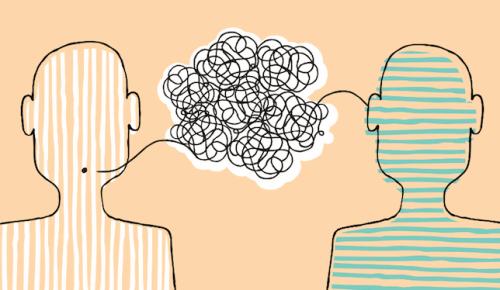 figur viser samtale mellem to personer