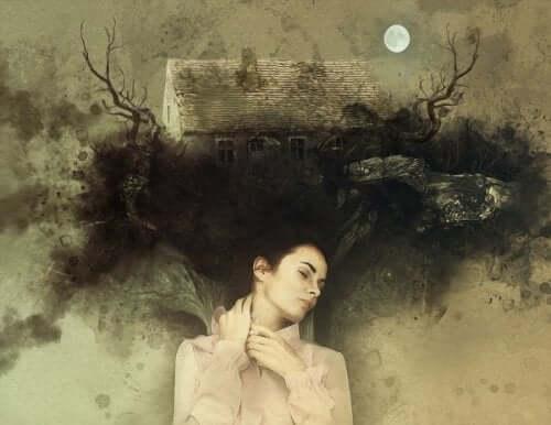 en kvinde drømmer