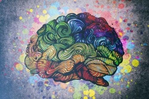 Kreativitet og maniodepressiv sindslidelse illustreres af kunstnerisk hjerne