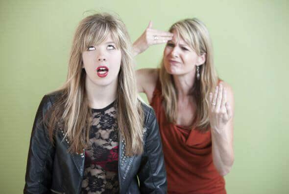 en umulig teenager eller krævende forældre