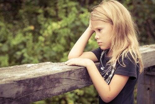 Bekymret pige har matematikangst