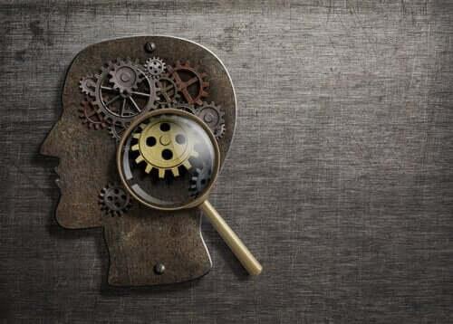 Tandhjul i hjerne symboliserer teori af Hans Eysenck