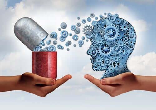 Figur med medicin og tandhjul
