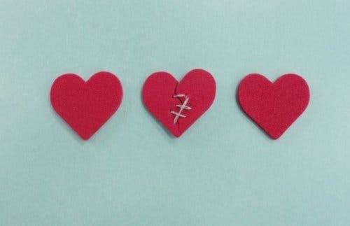 Ødelagt hjerte af folk, der bryder løfter