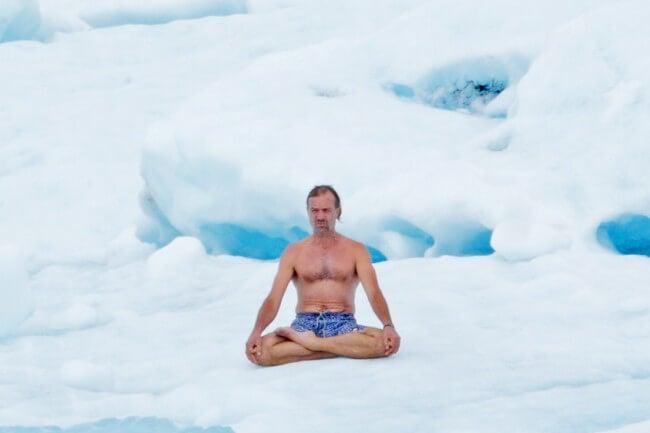 Wim Hof på is