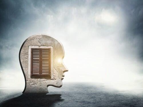Et ansigt med et vindue til sindet