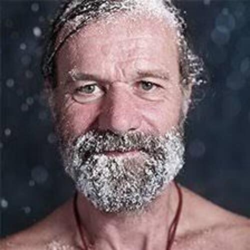Wim Hof med sne i skægget