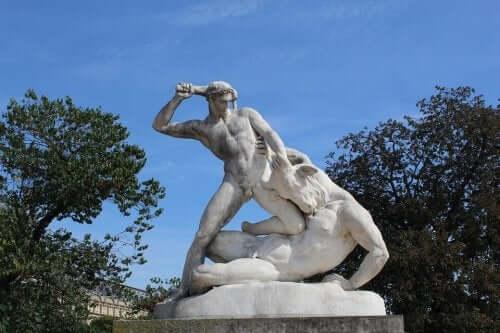Theseus dræber Minotauros