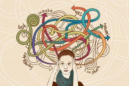 Kvinde med gentagende tanker