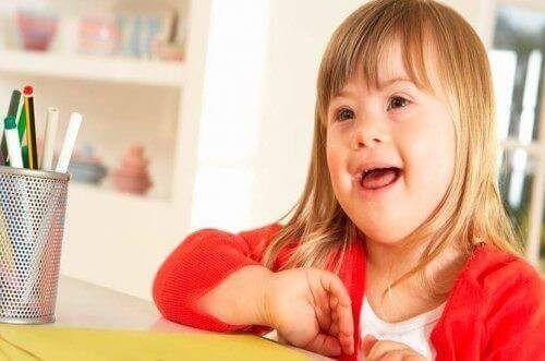 Pige med Down Syndrom