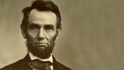 Portræt af Abraham Lincoln