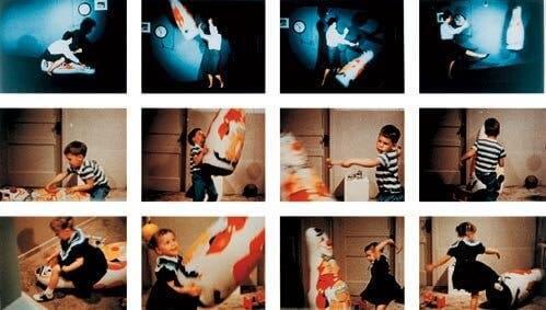 Billedserie af børn fra Bobo Doll-eksperimentet