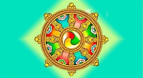 Symbolsk cirkel med farver