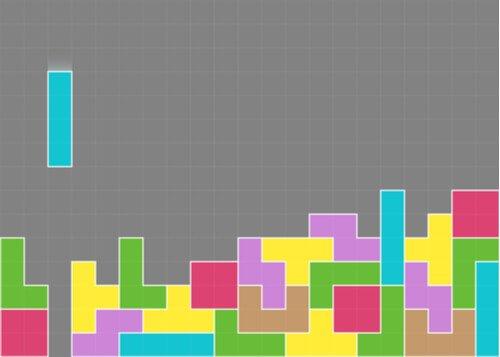 Skærmbillede af tetris