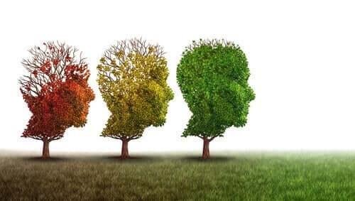 Træer formet som ansigter