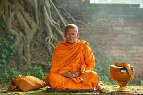 Munk, der mediterer