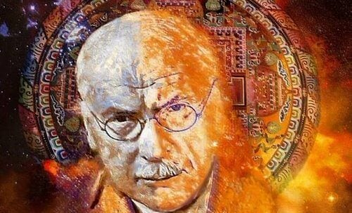 Abstrakt billede af Carl Jung