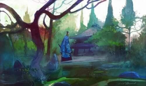 Billede af have med kinesisk tempel
