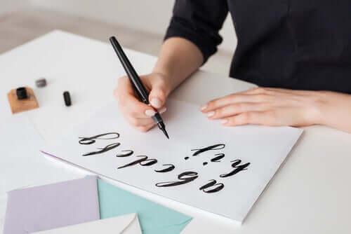 At dyrke håndskrift kan bringe dig i den såkaldte flow state