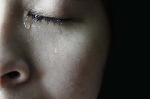 Ansigt med tårer