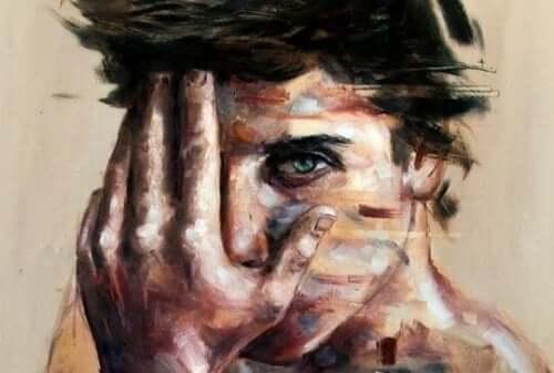 Maleri af ung mand