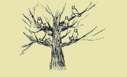Træ med ulve