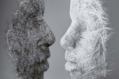 Illustration af psykologiske masker