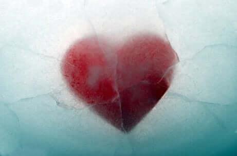 Hjerte på knust is