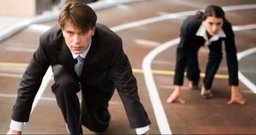 Kollegaer, der løber om kap, besidder personlighedstype A