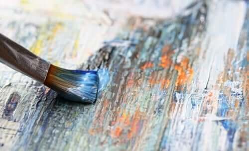 Malerpensel på lærred