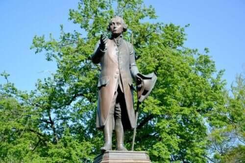Statue af Immanuel Kant, der gav os Kants etik