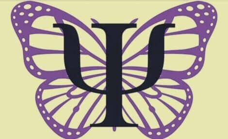 Sommerfugl med logo