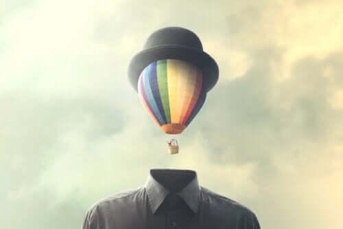 Luftballon med hat