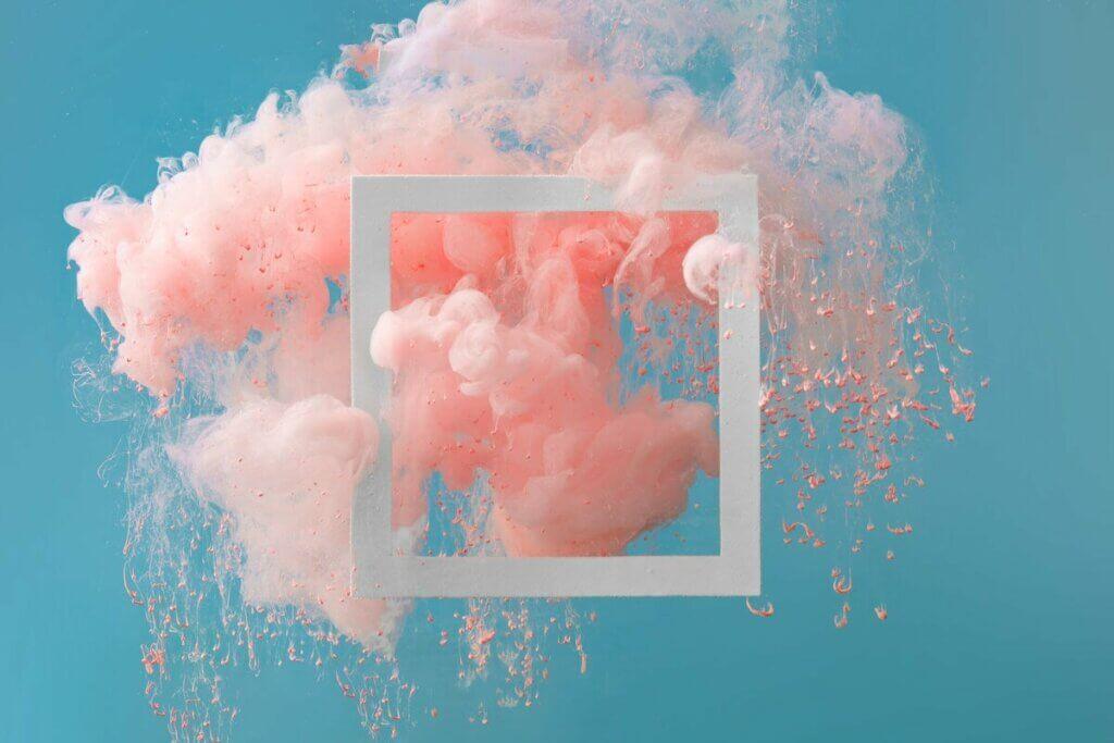 Pink røg