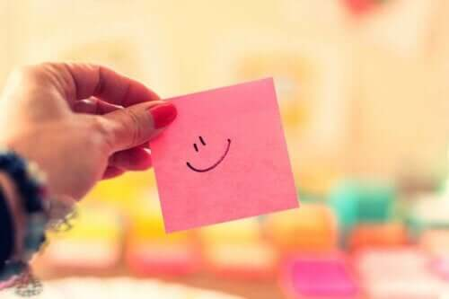 Post-it-note med smiley