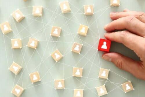 Personer i et netværk