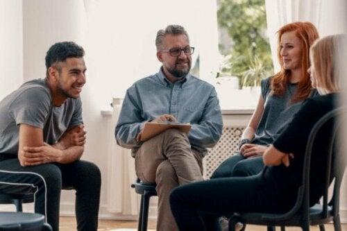 Karaktertræk og mål for gruppeterapi