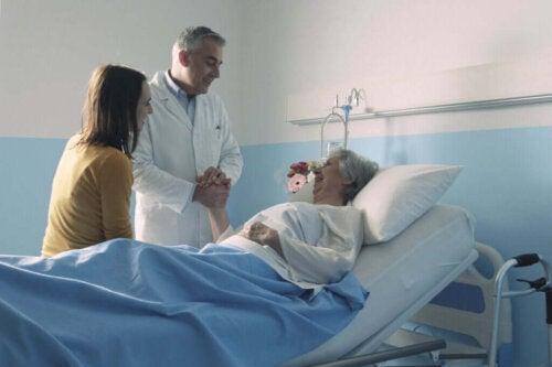 Kvindelig patient er indlagt
