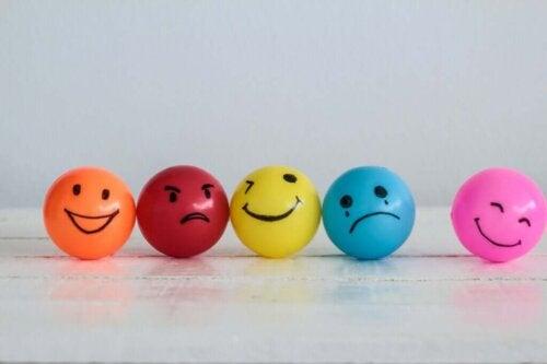 Smileyer viser forskellige følelser